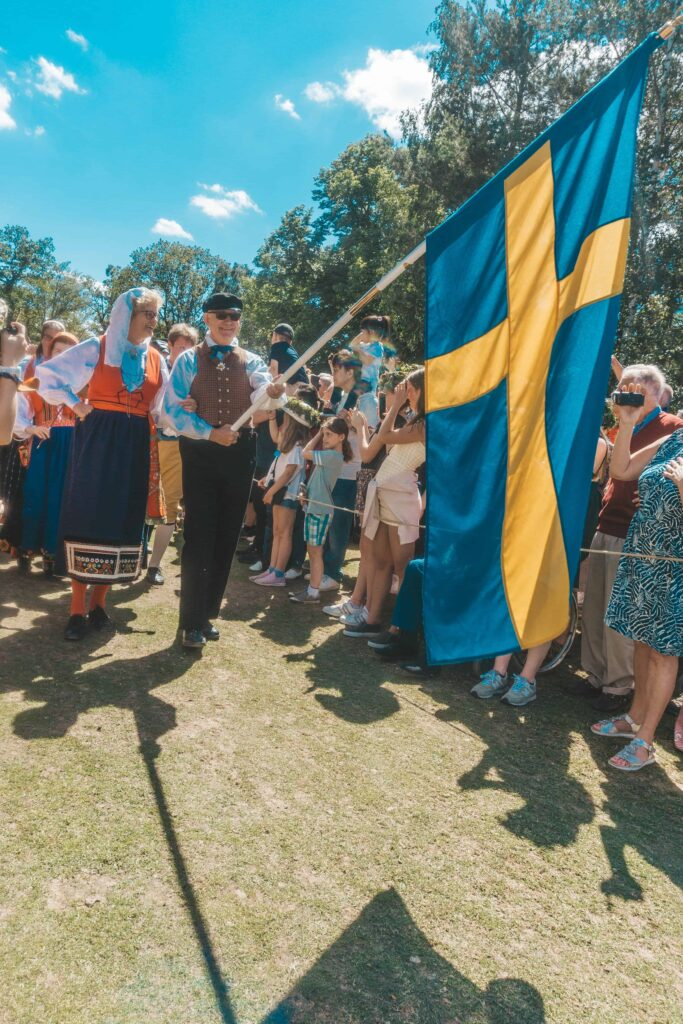 Karen Roldan - Midsummer Celebration in Sweden - Sweden Flag