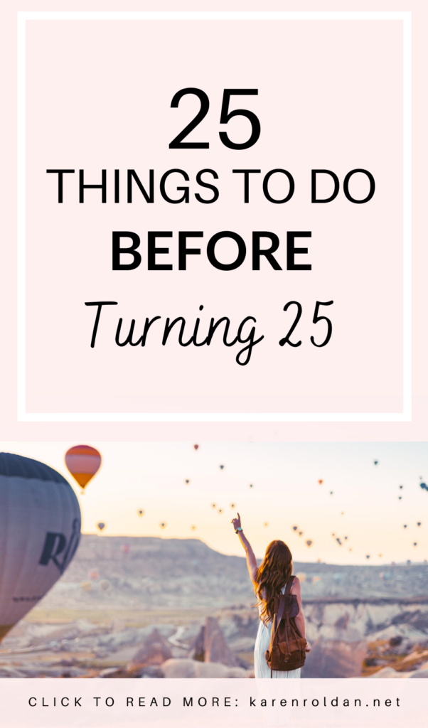 With only less than 1 and a half years to go, I'm turning 25! I thought it'll be fun to create a bucket list: 25 things to do before turning 25.