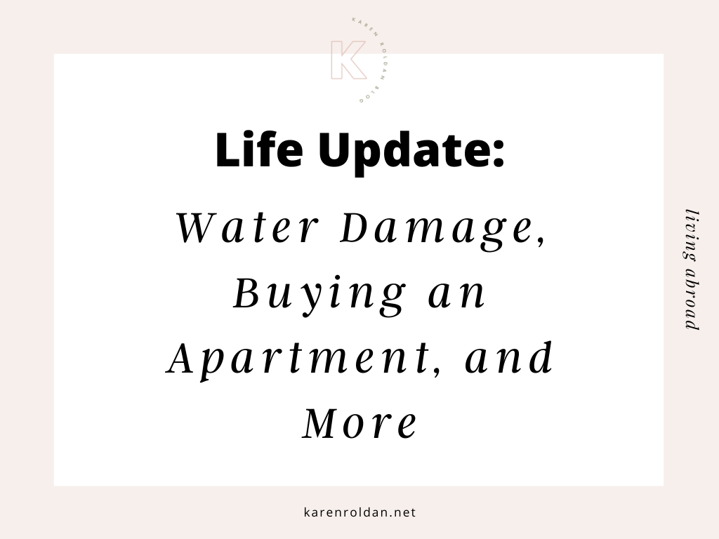 Life Update: Water Damage, Buying an Apartment, and More 1