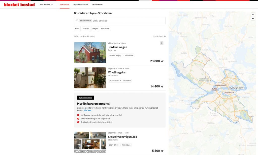 How to Find an Apartment For Rent in Stockholm 14
