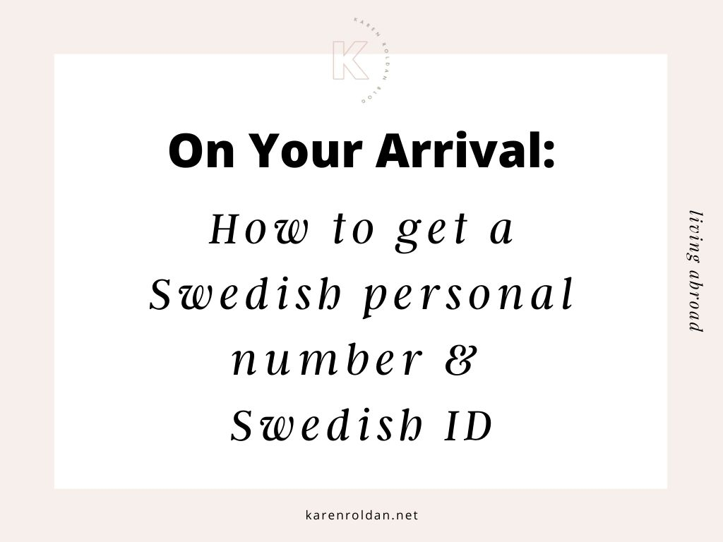 How to Get a Swedish Personal Number & Swedish ID 3